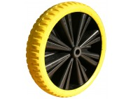 ROUE STARCOFLEX LIGHT JAUNE 39-12E AXE D20 LM75MM