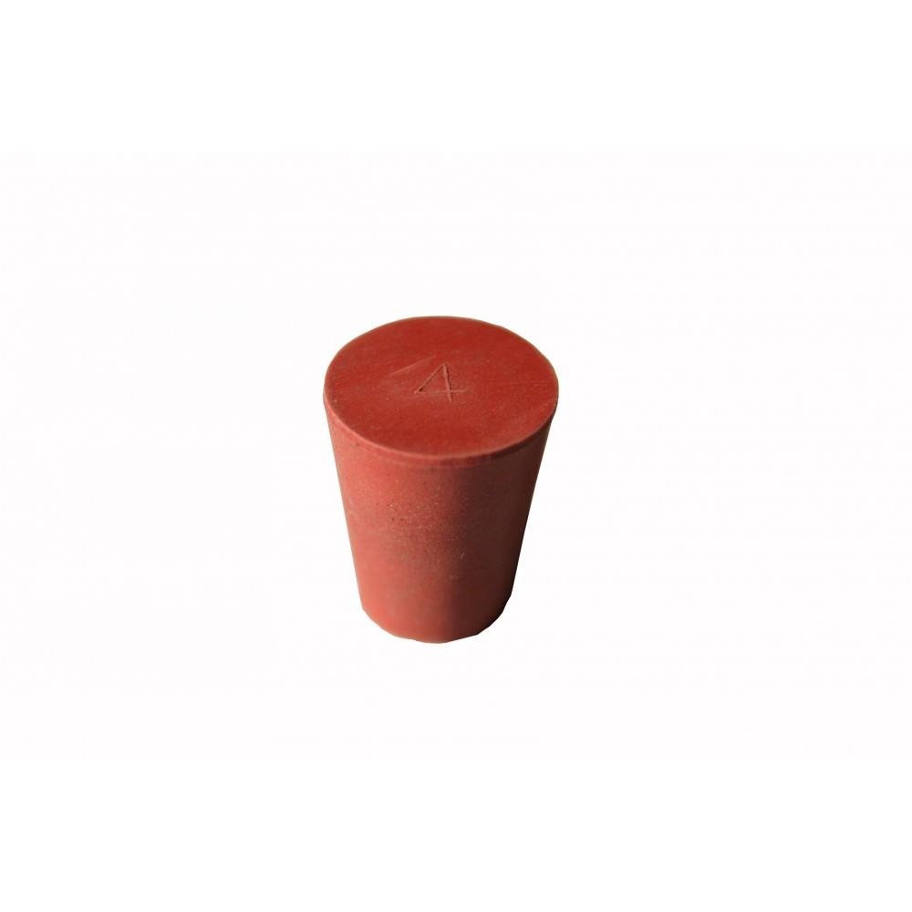 bouchon conique caoutchouc rouge d18 13 h22mm n nuphar. Black Bedroom Furniture Sets. Home Design Ideas
