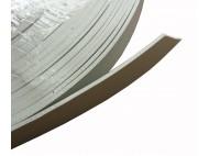 COURROIE PVC ASPECT CUIR GRISE 20MM /LE ML