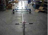 CHARIOT ACIER GALVA PNEUM 2M80-3M80  AVEC GALETS