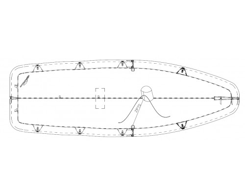 TAUD FIREBALL DESSUS ACRYLIQUE MARIN 315GRS/M²