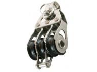 POULIE TRIPLE RINGOT FIXE SUR ROULEMENTS AIGUILLES 20mm