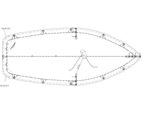 TAUD WINDY DESSUS POLYESTER ENDUIT PVC 520 GRS/M²