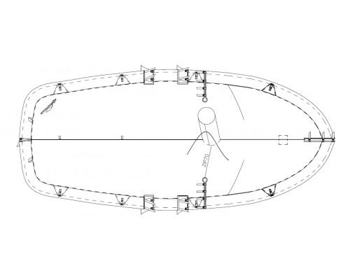 TAUD CARAVELLE SPAIR DESSUS POLYESTER ENDUIT PVC 520 GRS M²