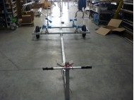 NEWMATIC GALVANIZED STEEL TROLLEY WITH ROLLS