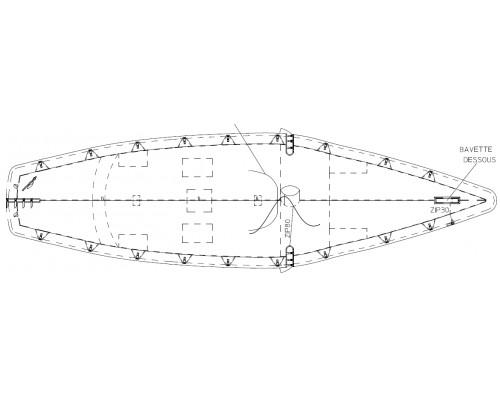 TAUD SOLING DESSUS ACRYLIQUE MARIN 315GRS/M²