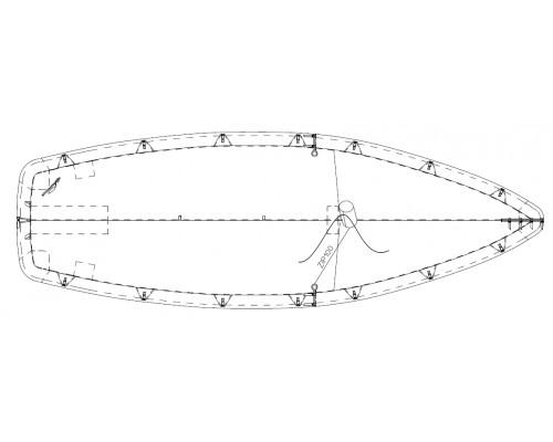 TAUD TEMPEST DESSUS POLYESTER ENDUIT PVC 520 GRS/M²