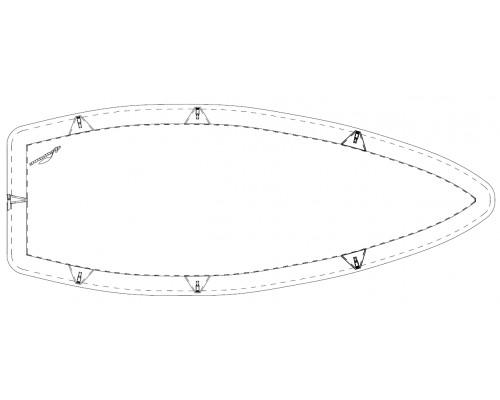 TAUD X4 DESSUS ACRYLIQUE MARIN 315GRS/M²