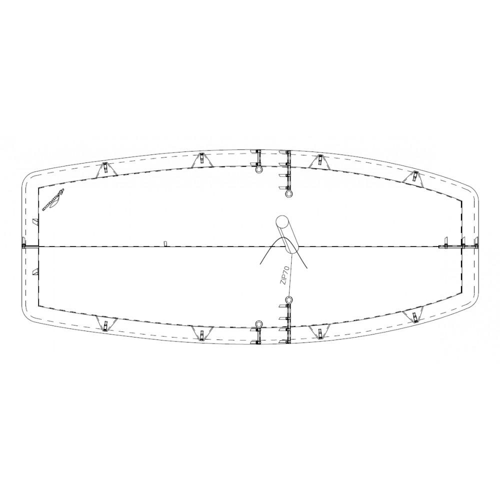 TAUD CARAVELLE BOATIQUE DESSUS POLYESTER ENDUIT PVC 520 GRS-M²