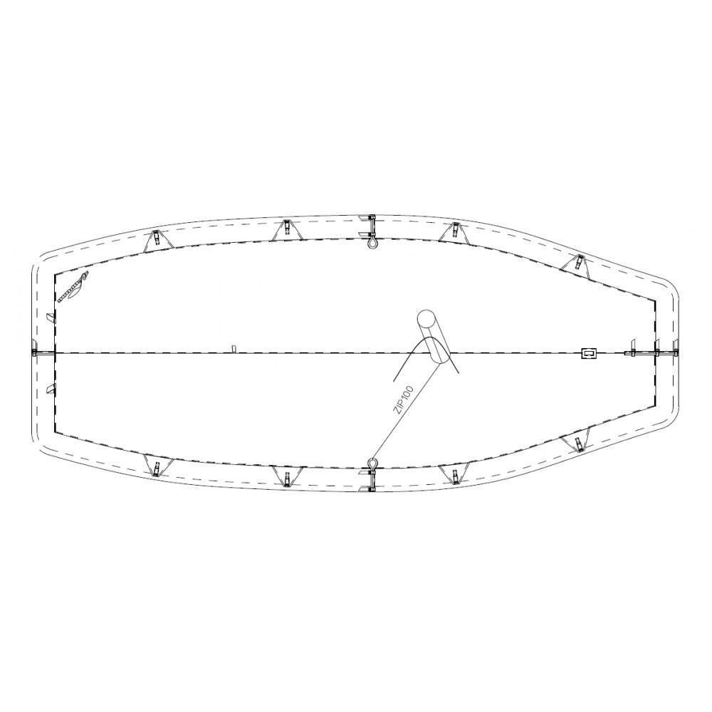 TAUD CARAVELLE ABC DESSUS POLYESTER ENDUIT PVC 520 GRS-M²